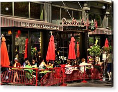 Sidewalk Cafe Acrylic Print by Laurie Prentice