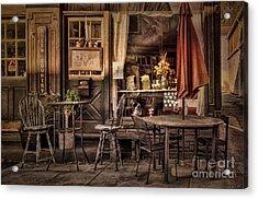 Sidewalk Cafe Acrylic Print by Lois Bryan