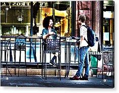 048 - Sidewalk Cafe Acrylic Print