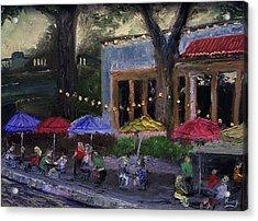 Sidewalk Cafe Acrylic Print