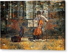 Sidewalk Cellist Acrylic Print