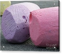 Sidewalk Chalk Collection Photo 1 Acrylic Print