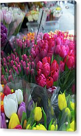 Acrylic Print featuring the photograph Sidewalk Flowers by Lora Lee Chapman