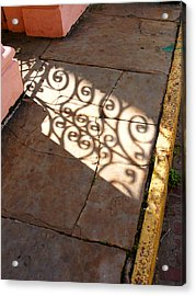 Sidewalk Shadow Acrylic Print