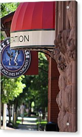 Sidewalk View Jazz Station  Acrylic Print