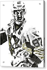 Sidney Crosby Pittsburgh Penguins Pixel Art 4 Acrylic Print by Joe Hamilton
