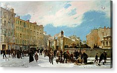 Siege Of Paris Acrylic Print by Jacques Guiaud