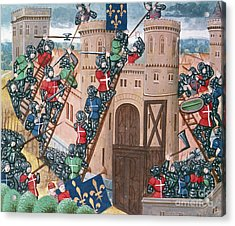 Siege Of Pontaudemer, Illustration Acrylic Print