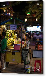 Siem Reap Fruit Stand Acrylic Print