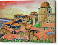 Siena Italy Acrylic Print by Ron Stephens