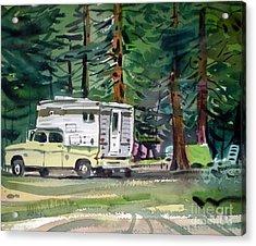 Sierra Campsite Acrylic Print by Donald Maier