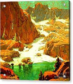 Sierra Landscape Circa 1920 Acrylic Print