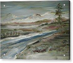 Sierra Mountain Stream Acrylic Print by Edward Wolverton