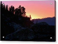 Sierra Nevada Dusk Acrylic Print