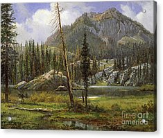 Sierra Nevada Mountains Acrylic Print by Celestial Images