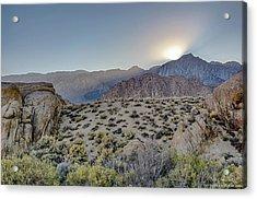 Sierra Sunrays Acrylic Print