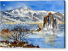 Acrylic Print featuring the painting Sierra View by Pat Crowther