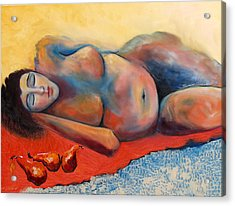 Siesta Desnuda Acrylic Print by Niki Sands