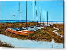 Siesta Key Access #8 Catamarans Acrylic Print