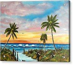 Siesta Key At Sunset Acrylic Print