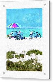 Siesta Key Beach Bikes Acrylic Print