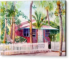 Siesta Key Cottage Acrylic Print
