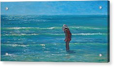 Siesta Key Searching Acrylic Print