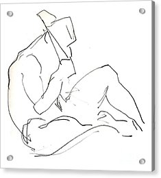 Siesta - Male Nude Acrylic Print