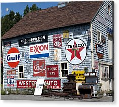 Sighs Of Old Times Acrylic Print by Charles  Ridgway