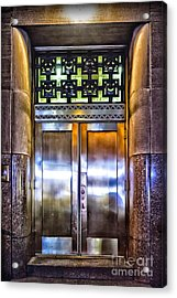 Acrylic Print featuring the photograph Sights In New York City - Bright Door by Walt Foegelle