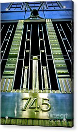 Acrylic Print featuring the photograph Sights In New York City - Classy Address by Walt Foegelle