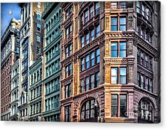 Acrylic Print featuring the photograph Sights In New York City - Colorful Buildings by Walt Foegelle