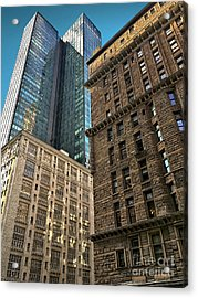 Acrylic Print featuring the photograph Sights In New York City - Old And New 2 by Walt Foegelle