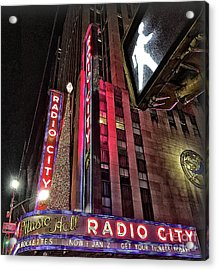 Acrylic Print featuring the photograph Sights In New York City - Radio City by Walt Foegelle