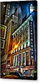 Acrylic Print featuring the photograph Sights In New York City - Scientology by Walt Foegelle