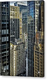Acrylic Print featuring the photograph Sights In New York City - Skyscrapers Shot From Skyscraper by Walt Foegelle