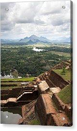 Sigiriya Ruins Acrylic Print by Jane Rix