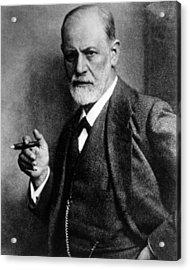 Sigmund Freud 1856-1939, Photograph Acrylic Print by Everett
