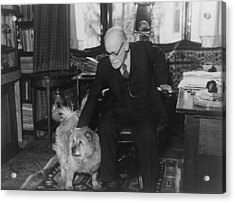 Sigmund Freud 1856-1939, Seated Acrylic Print by Everett
