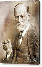 Sigmund Freud, Neurologist By Mary Bassett Acrylic Print