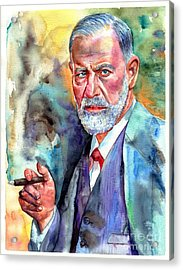 Sigmund Freud Painting Acrylic Print