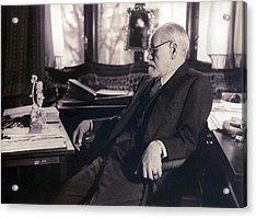 Sigmund Freud Seated In His Study Acrylic Print