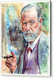 Sigmund Freud Portrait Acrylic Print