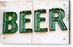 Sign Advertising Beer Acrylic Print by Yali Shi