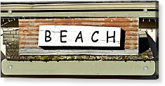 Sign Of A Beach Acrylic Print