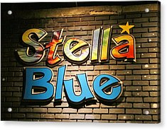 Sign Of Stella Blue Acrylic Print