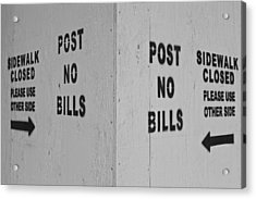 Sign Of The Times Acrylic Print by Robert Ullmann