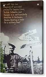 Sign Post Poster Acrylic Print by Robert Braley