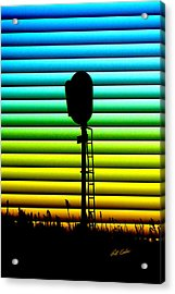 Signal At Dusk Acrylic Print by Bill Kesler