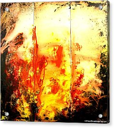 Signed By Fire Acrylic Print by Peter Dranitsin